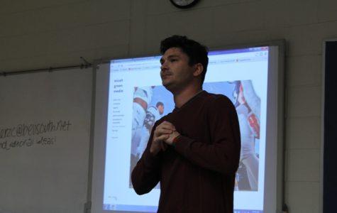 Local photographer Micah Green visits Lambert newsroom