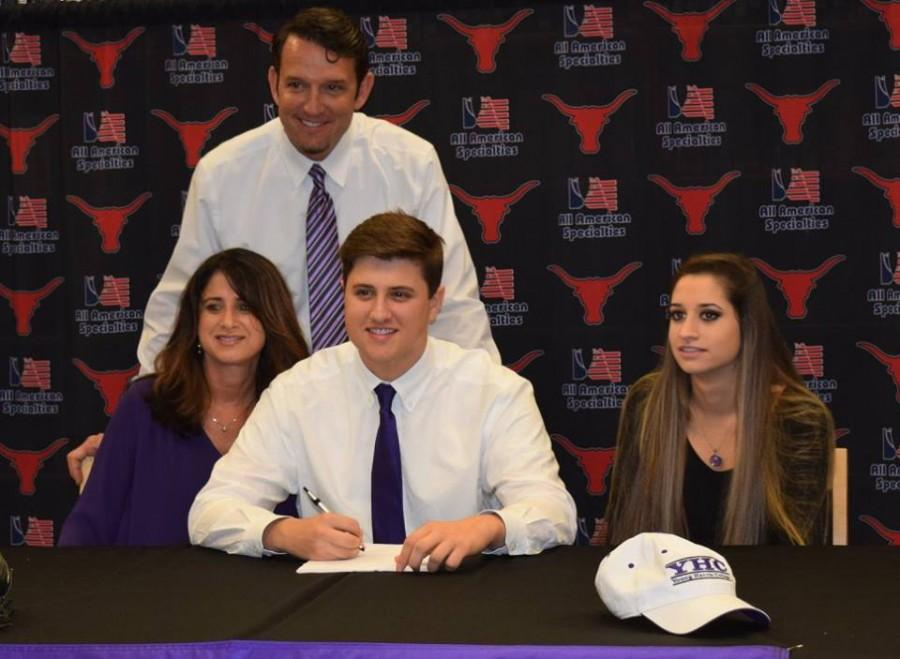 Jake Tomelevage, baseball, signs with Young Harris College