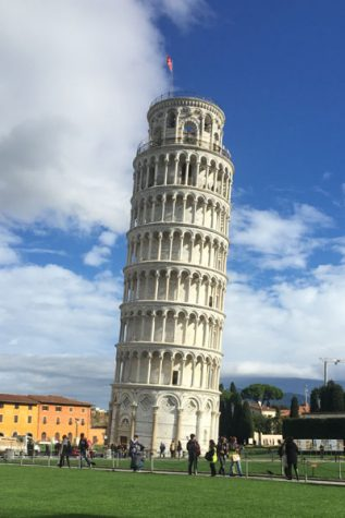 The Leaning Tower of Pisa in Pisa, Italy.