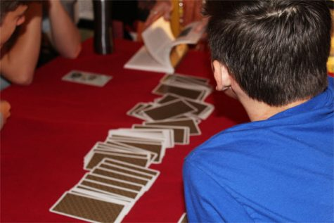 Students were participating in the holiday spirit by playing fun games and activities such as tarot cards.