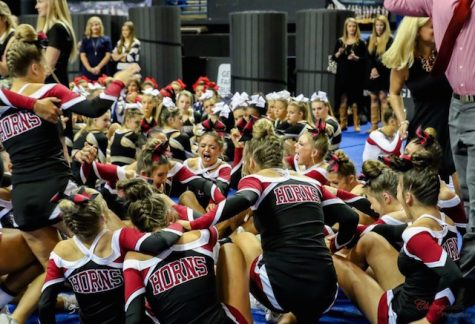 The cheerleaders were ecstatic to have won the state title.