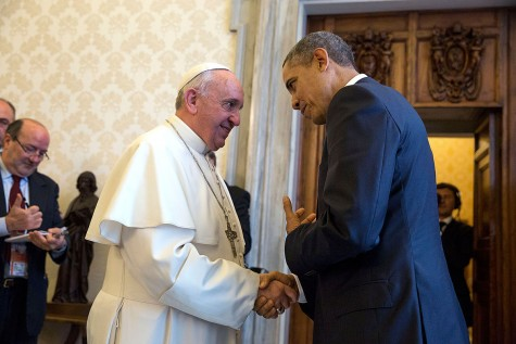 On March 27, 2014, Pope Francis and Barack Obama meet to say farewell. Nine months later, Pope Francis will announce his plan to visit the United States in 2015.
