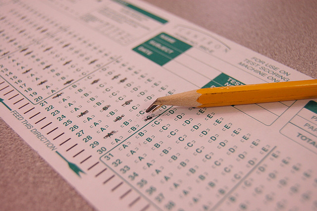 Students never saw the scantron