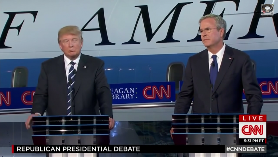 Trump and Bush face off in the September 16 debate. Trump has attacked bush, as well as other candidates, on and off the debate stage.
