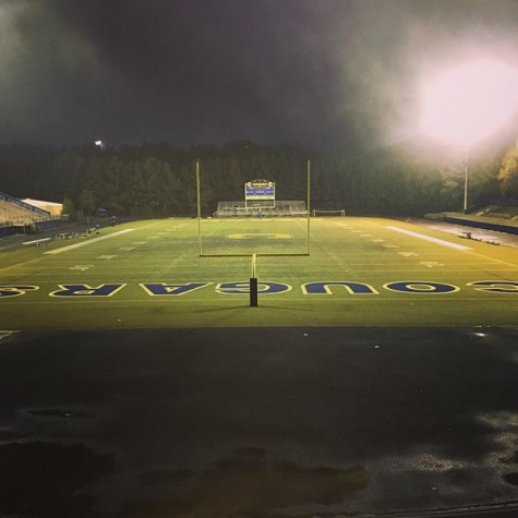A nighttime view of the Chattachoochee field laid out.