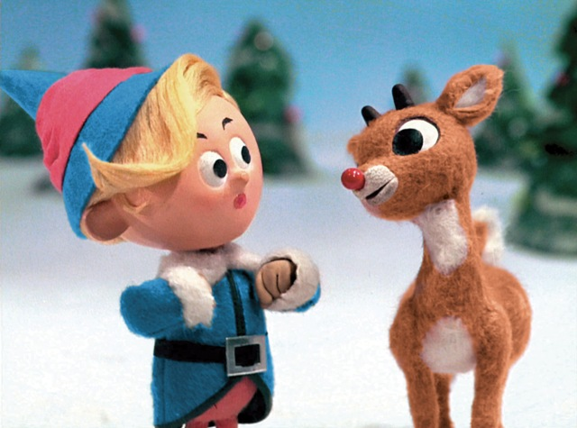 Rudolph and his elf friend Hermey discuss their marginalization and the discrimination they face.