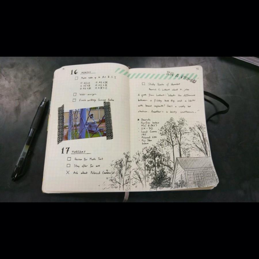 A beautiful example of a bullet journal.
