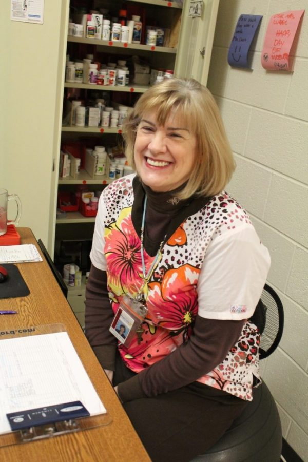 Mary Currie, the Lambert Highschool nurse, opens up regarding life without her son.