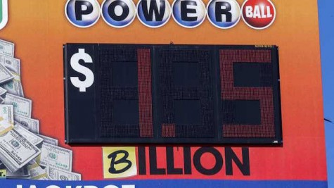 The original Powerball boards that list the winning amounts only portrayed dollars in millions. Many of the automatic boards were updated with a