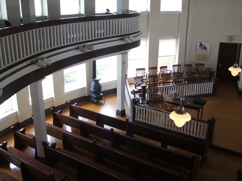 The Old Monroeville Courthouse, which provided the basis for the movie's set and was where Lee's dad's cases were held.