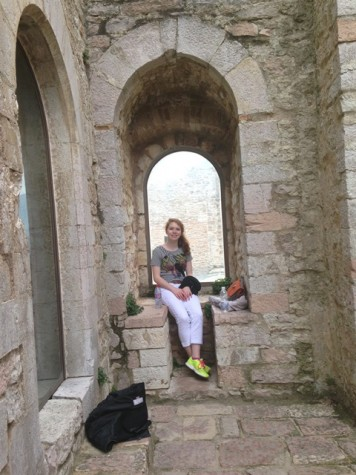 High school is a time for trying new things and preparing for college, and I am so appreciative of several opportunities I took advantage of in high school (especially traveling to Italy- that's me in an ancient castle in Assisi!)