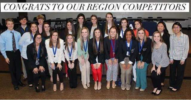 Lambert DECA made a powerful impression with 49 students winning in various categories