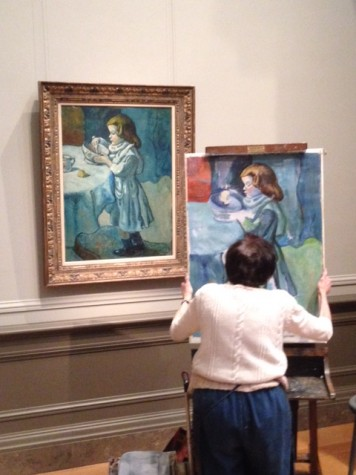 This older woman asked to be allowed to paint within the art museum in D.C. and I was fortunate enough to witness her painting an exact replica of this famous painting. She has a true talent and would rather paint for the joy of it without being considered a professional and without seeking fame.