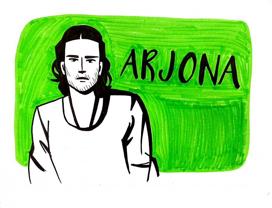 Arjona took on teaching in rural areas and professional basketball for his national team before settling on music. His music has addressed romance, social issues, and other topics. It has also traveled through pop sounds and a stripped-down acoustic style.