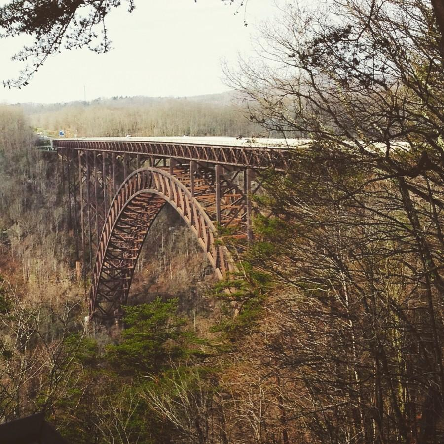 This picture was taken over the summer when my family and I went on a road trip. In West Virginia we stopped at River Valley Gorge and I was inspired to take this picture because of the way the trees frame the bridge and its natural beauty.  -Hannah Saylor