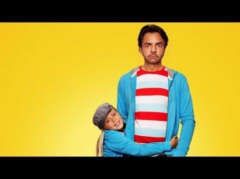 Eugenio Derbez and co-star Loreto Peralta pose in a movie promotional.
