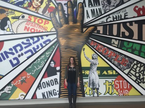 The Lambert Project recently went to the National Center for Civil and Human Rights in Atlanta. Here is one member of the club, Emma Bryant, standing in front of a huge, breathtaking mural.