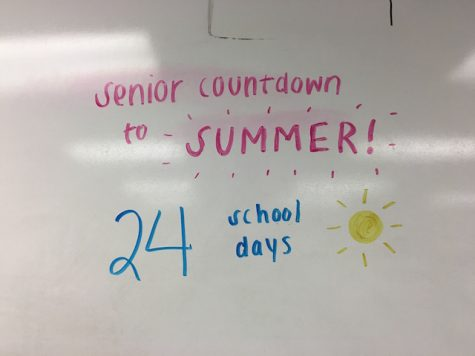 The senior countdown until the end of the school year is in full action - then comes graduation!