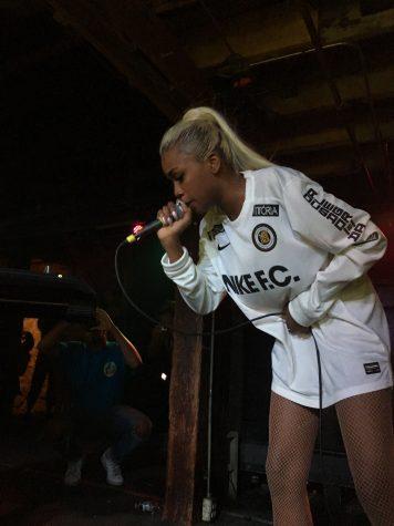 Atlanta-based artist, Abra, performing her hit song,