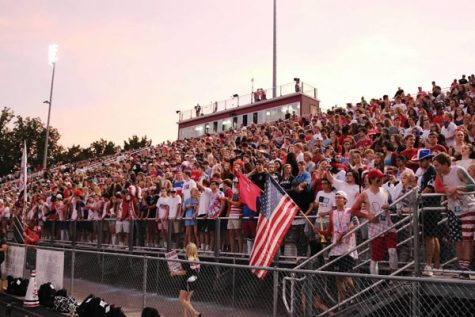 A proud student section fills the bleachers for La(Photo used with permission of Kristina Chapple)