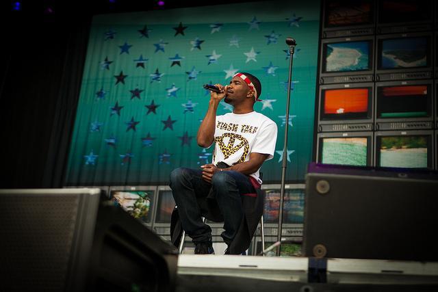 Frank Ocean performing live