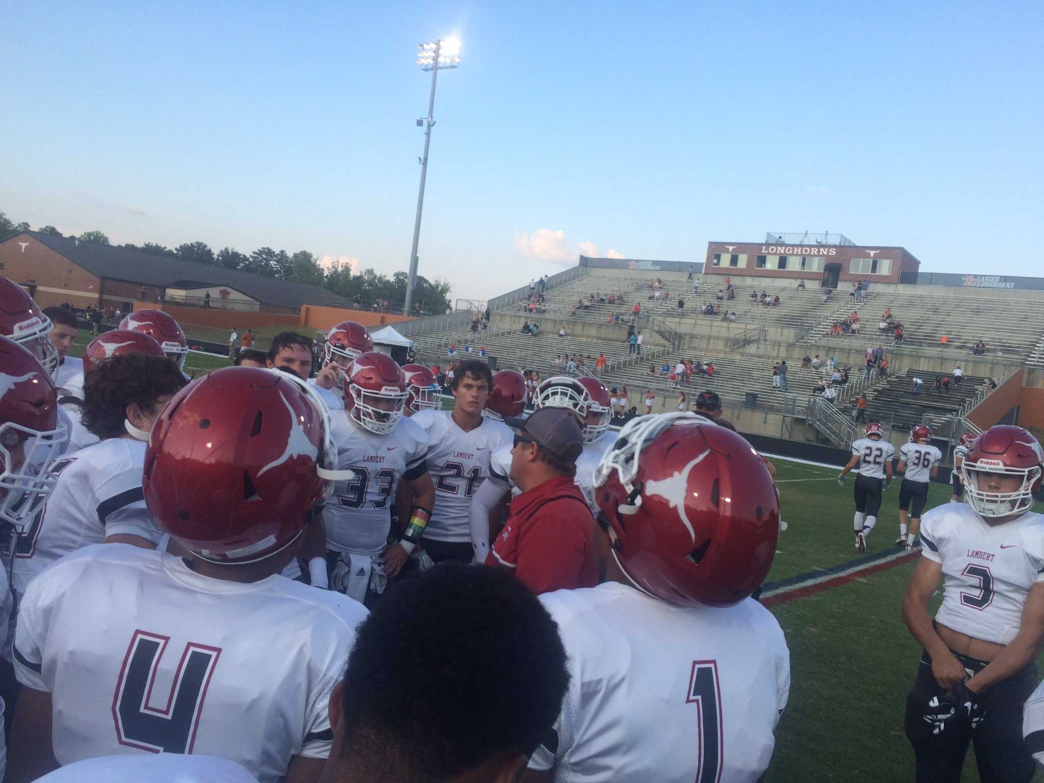Lambert football prepares to battle Cherokee High School