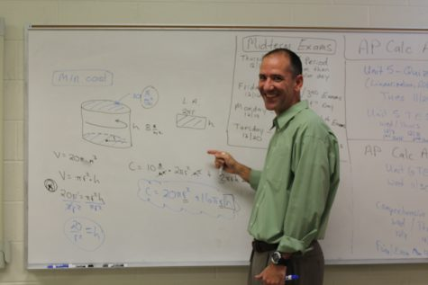 AP Calculus teacher Mr. Teeple stands tall and proud in his teaching career.