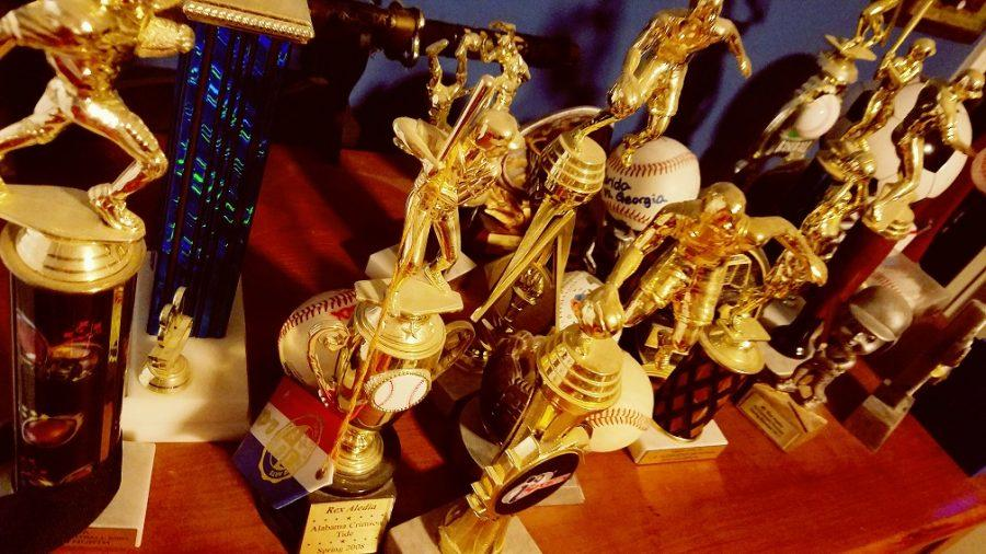 Participation+trophies+collect+dust+and+are+left+forgotten+on+a+dresser.
