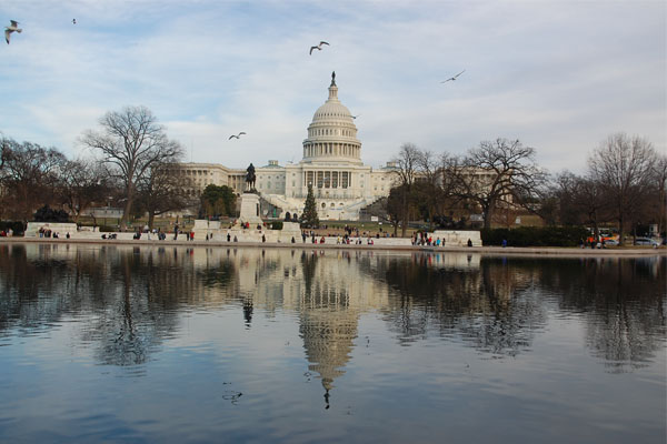 The Capitol Building is where Congress meets and where most Presidents have been sworn in. Since Ronald Reagans inauguration, all following ones have been held on the western front of the building, whereas all prior ones have been held on the eastern front. Trump was sworn in at the western front of the Capitol on Jan. 20.