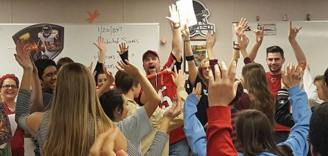 Teachers and students alike get excited for the NFL's championship weekend (Photo used with permission from Stephanie Harrison)