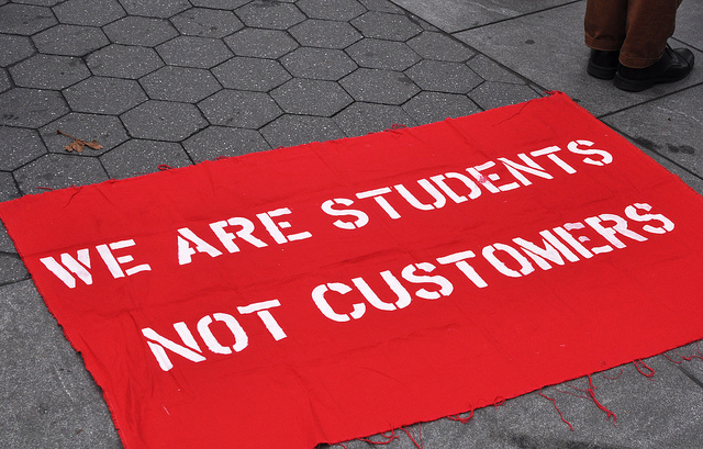 There have been a few student-led protests against high tuition costs, which has contributed to the national debate on this issue.
