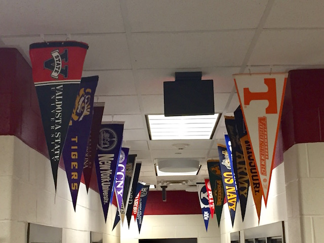 The+banners+are+displayed+in+the+counselors+office+to+show+some+college+options+for+students.+