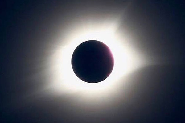 Total solar eclipse over Clemson University. Used with permission from Ethan Santiago.
