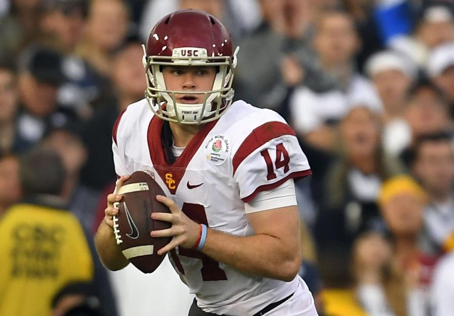 USC+QB+Sam+Darnold+hopes+to+take+down+Notre+Dame+this+Saturday