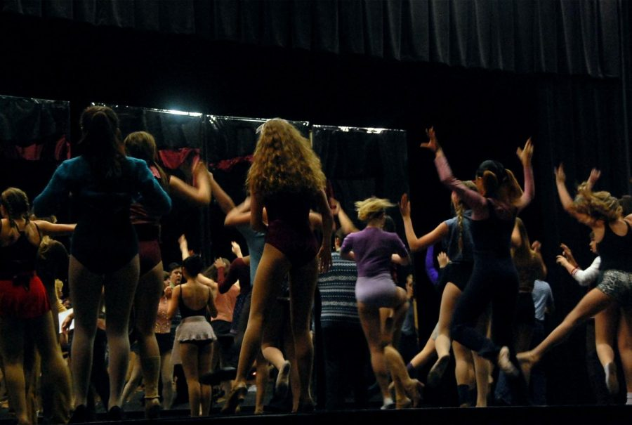 The cast is shown here dancing in the opening song I Hope I Get It.