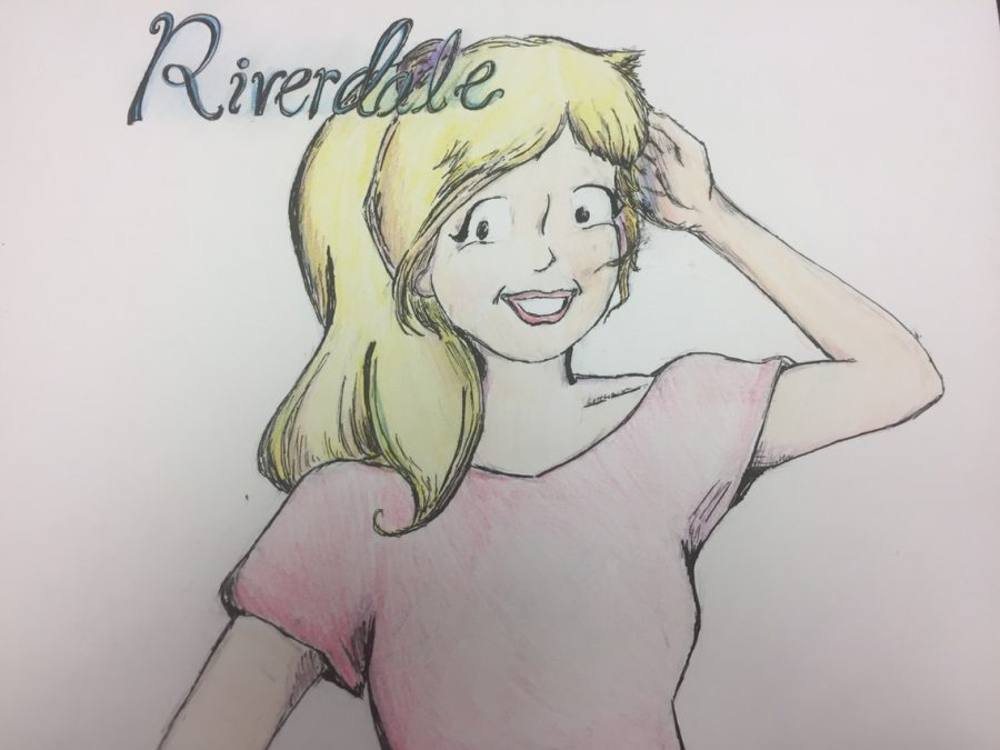 The image shows Betty Cooper, a main subject of the episode, in the style of the Archie comics. Artist: Ananya Mehta