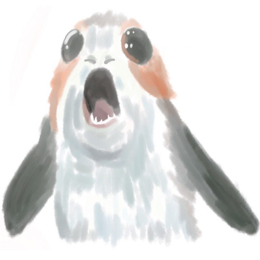 Behold one of the newest creations of Disney, the porg.