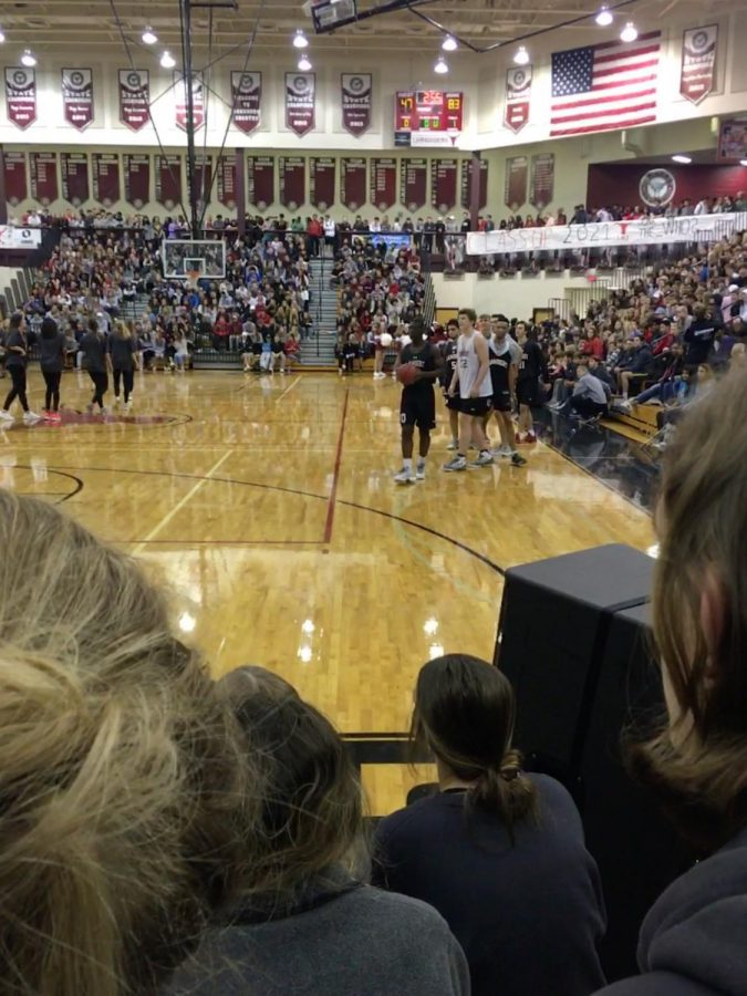 The above picture is from a Lambert pep rally earlier in the year. The scene here is much brighter than the serious tone taken at the safety meetings in this same gym.