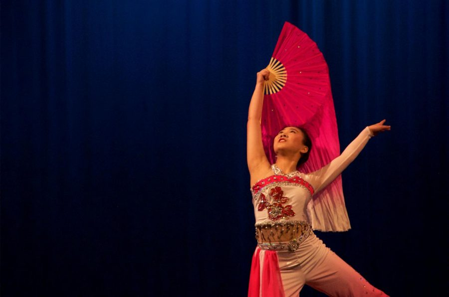 Guest dancer, Victoria Chen, performs a Classical Chinese dance to the song