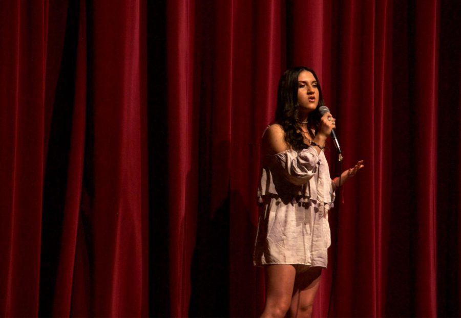 Liana Carrion performs an emotional song by Beyoncé.