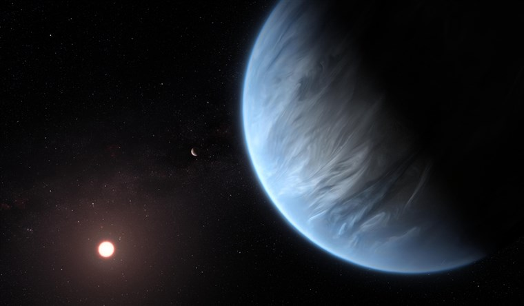 *Artist's Rendition of what the new planet and host star could look like. Credit: nbcnews.com