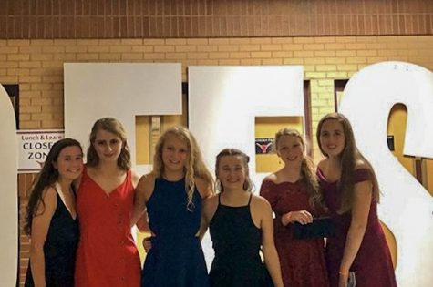 LHS sophomores at LALO Fest (from left to right: Livi Wold, Ava Hubbart, Morgan Latimer, Abby Moore, Helen Grogan, and Kelsey Coriell).