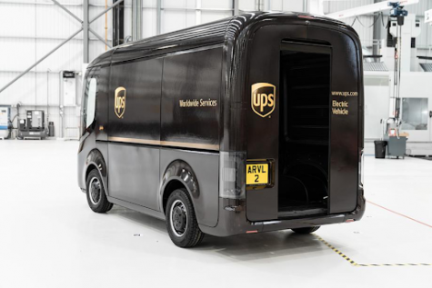 A picture of the future UPS self-driving trucks.