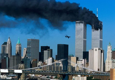 "Image was taken moments before ""United Airlines"" flight 175 crashed into the World Trade Center. Source: https://time.com/3449480/911-the-photographs-that-moved-them-most/"