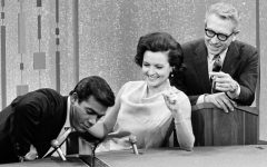 Betty White on Password with Paul Anka and future spouse, Allen Ludden. Source: https://www.biography.com/news/betty-white-game-shows