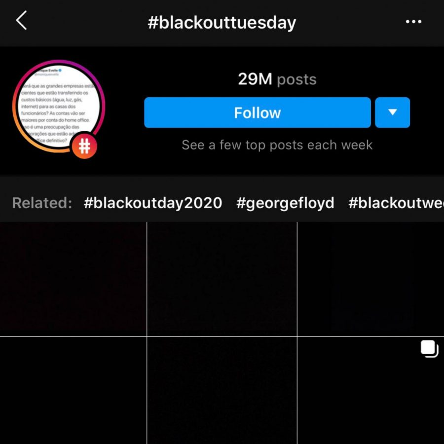 Pictures seen under #blackouttuesday on Instagram. Source: https://voxatl.org/the-dangers-of-performative-activism/