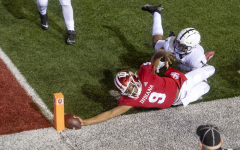 Indiana's game-winning, overtime touchdown. Photo by Abby Drey, taken on October 24, 2020, Some rights reserved, https://www.inquirer.com/college-sports/penn-state