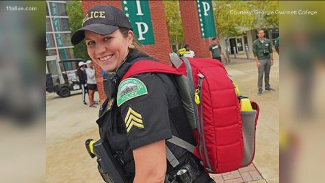 Georgia Gwinnett College Sergeant Ashley Still photoed on the job. Photo provided by Georgia Gwinnett College. Some rights reserved to 11alive.com.