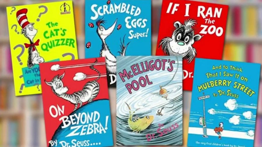 Pictured above are the six Dr. Seuss books that will no longer be printed due to racially insensitive imagery, all rights reserved https://tinyurl.com/4k76stnf
