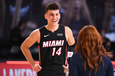 Photo by Garrett Ellwood, Taken on September 23, 2020, Some rights reserved, https://www.gettyimages.com/detail/news-photo/tyler-herro-of-the-miami-heat-smiles-and-talks-the-media-on-news-photo/1228678110?adppopup=true